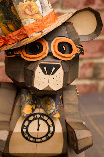 3d paper steampunk bear