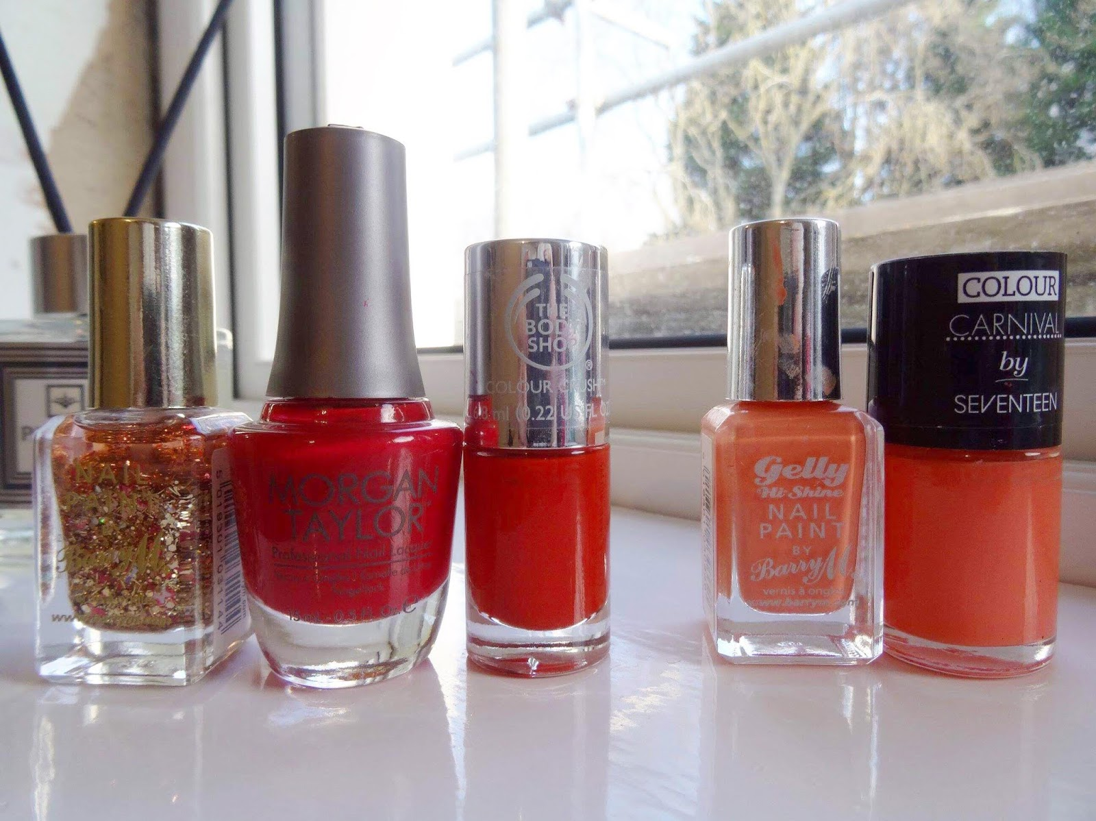 A Huge Nail Polish Declutter Orange and Red Edition