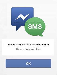 Setelah cukup lama dikembangkan, akhirnya Facebook gabungkan aplikasi FB messenger dengan SMS, yang saat ini dalam tahap ujicoba.
