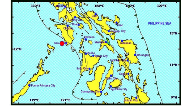 Magnitude 5.5 earthquake jolts Occidental Mindoro