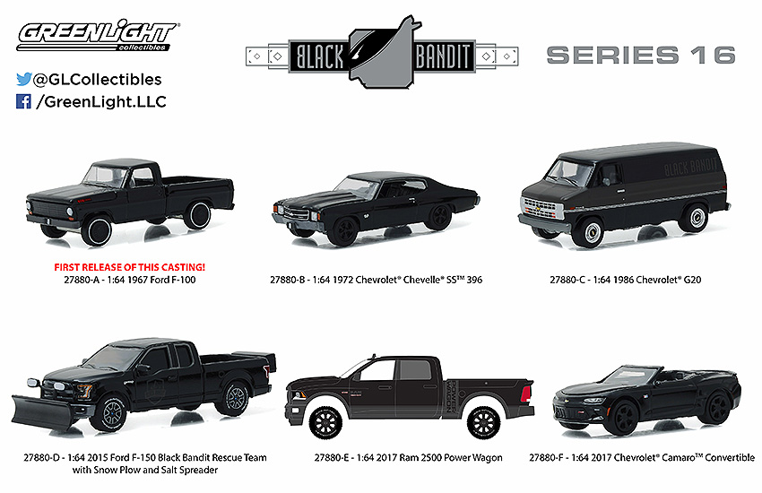 greenlight black bandit series 16