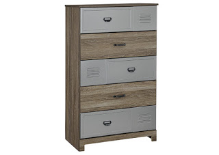 Kids' Wood and Metal Dresser
