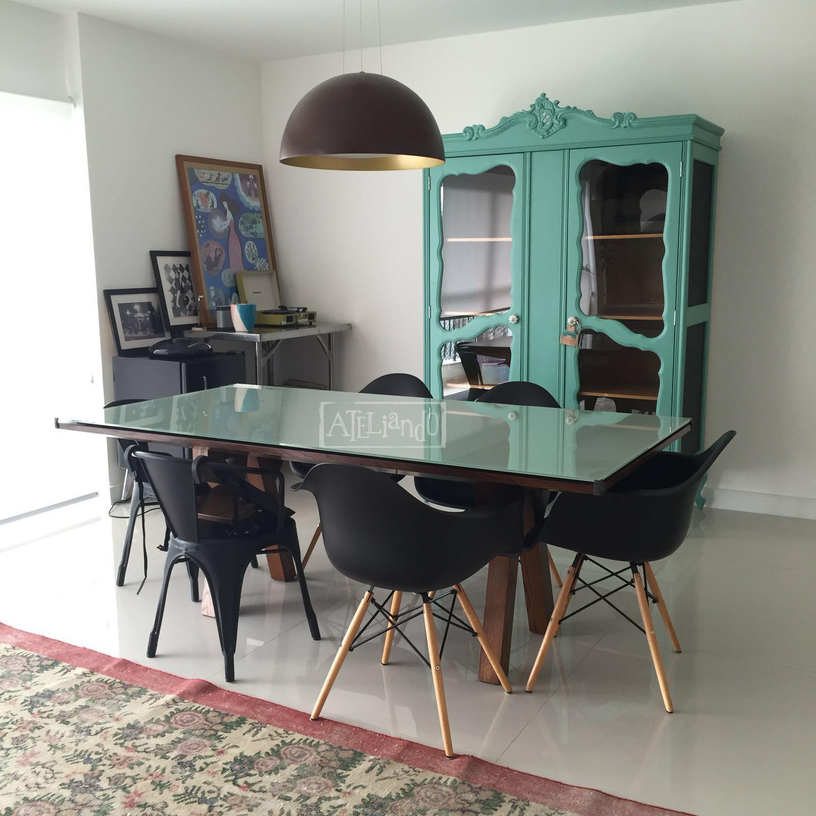 Mesa Sala De Jantar Retro ~   Customização de móveis antigos Sala de jantar vintage