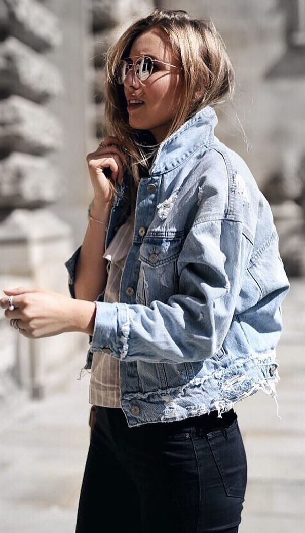 street style obsession / denim jacket + top + jeans
