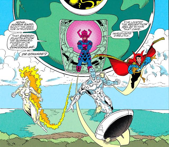 Galactus, Nova, Doctor Extraño y Estela Plateada