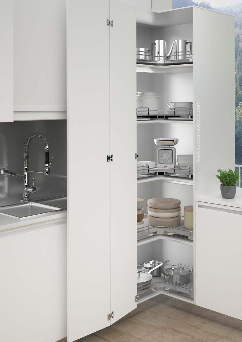 Bandeja giratoria mueble rinc n tu cocina y ba o - Grifos de cocina de pared ...