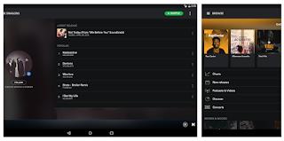 Spotify adalah pemutar musik dengan lirik