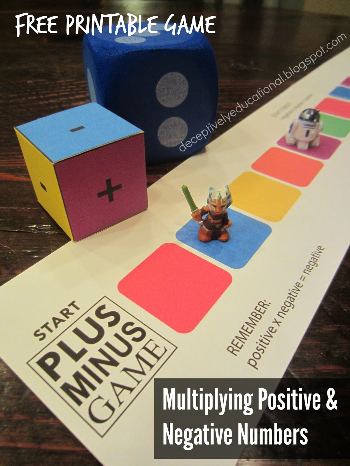 Relentlessly Fun Deceptively Educational Plus Minus Printable Game Multiplying Positive