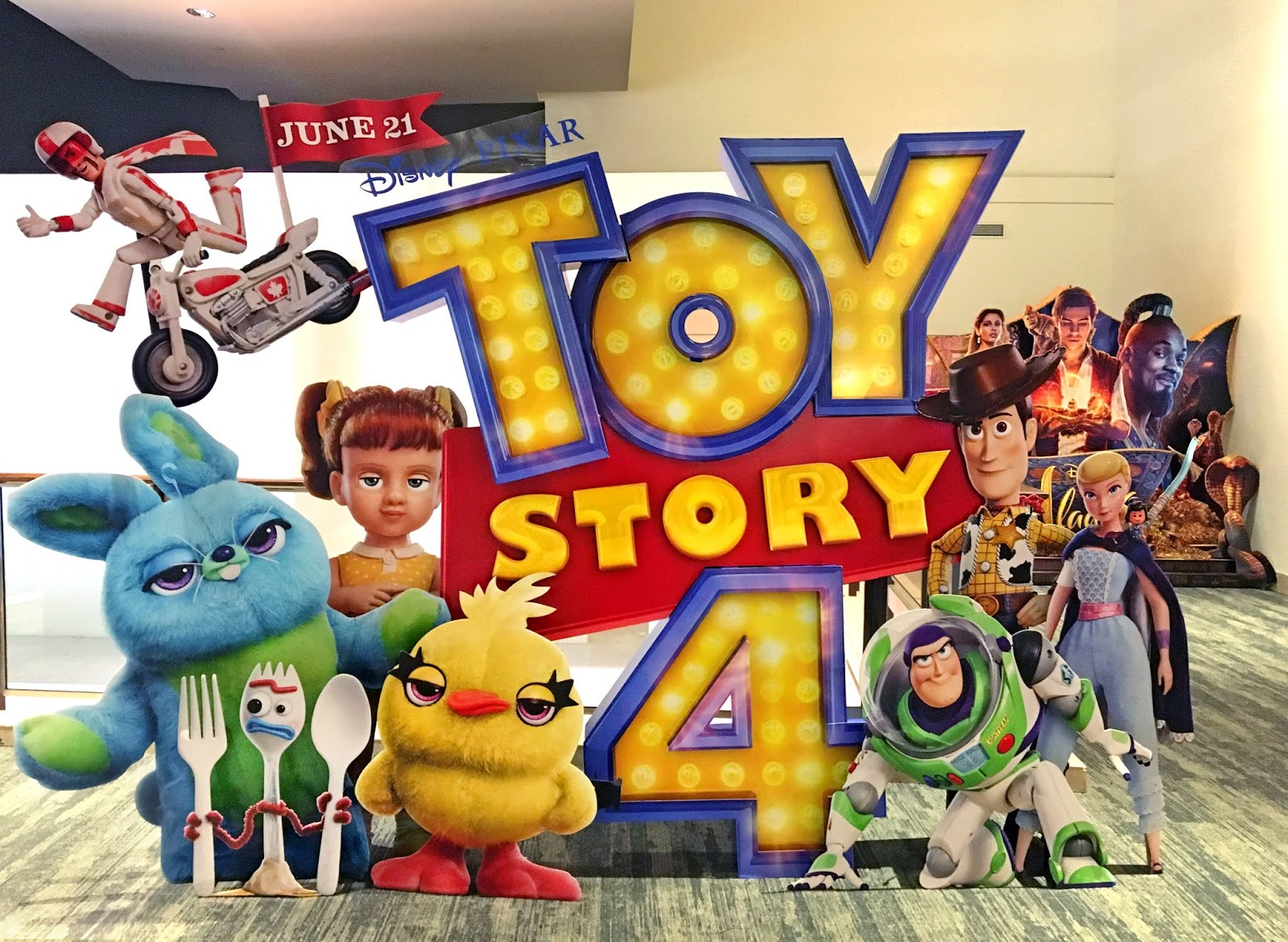 toy story 4 movie theater standee display