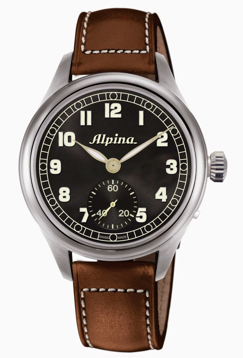 Alpina Heritage Pilot Limited Edition hand-wound watch