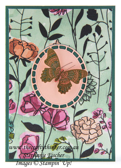#thecraftythinker, #stampinup  #saleabration #occasionscatalogue2019 #butterflygala , Sale-A-Bration, Occasions Catalogue, Wonderful Floral, Butterfly Gala, Stampin' Up Australia Demonstrator, Stephanie Fischer, Sydney NSW