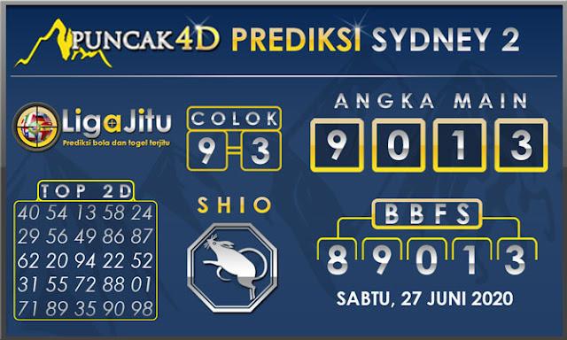 PREDIKSI TOGEL SYDNEY2 PUNCAK4D 27 JUNI 2020