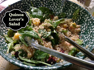beautiful salad with quinoa and vegetalbes