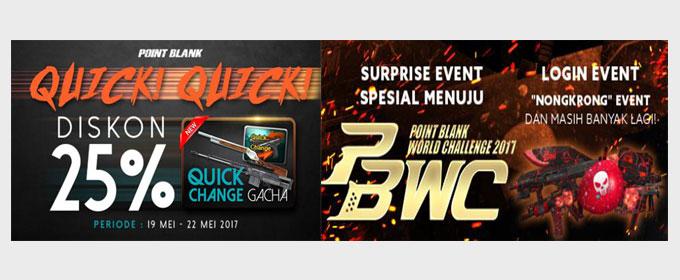Event Promo PB Garena Quick Change Week dan Nongkrong di Lobby