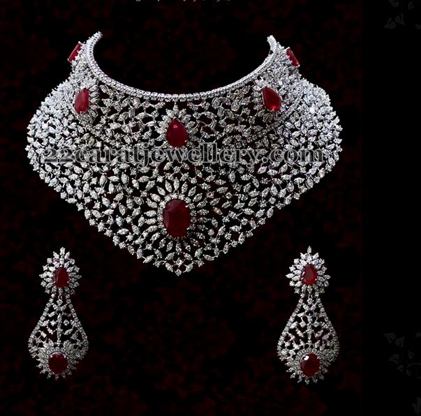 Heavy Diamond Set By Diyaash Jewellery Designs