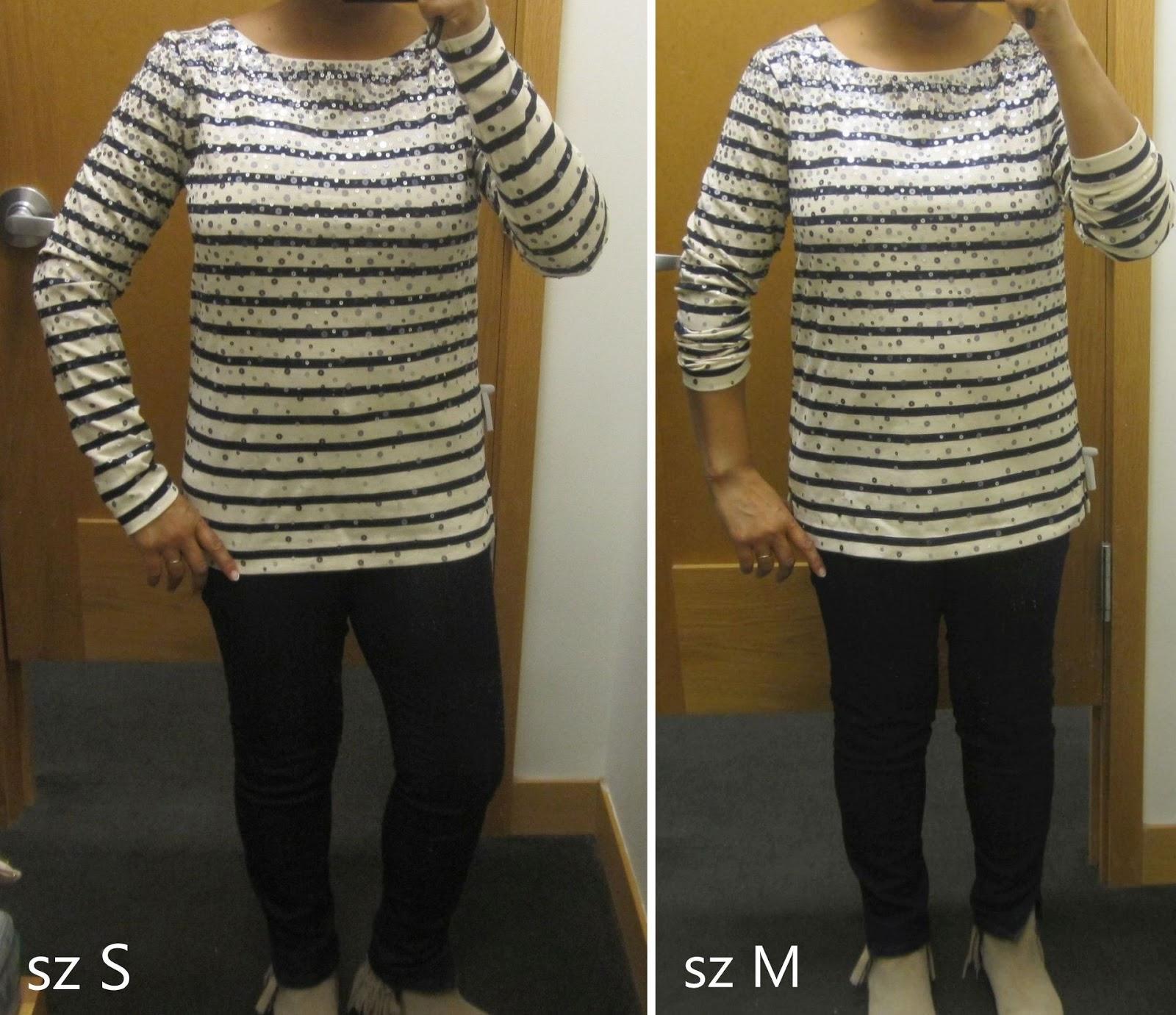 693e2441b98eb1 J Crew Factory confetti sequin tee   reviews - Gigi s Gone Shopping
