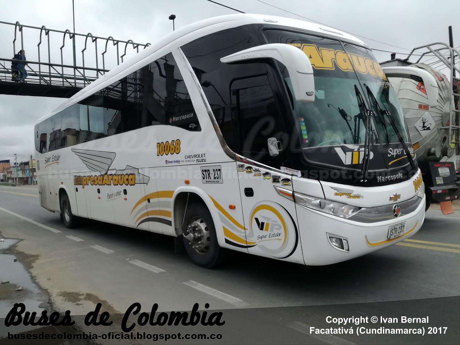 Empresa Arauca 10068 | Buses de Colombia - Oficial