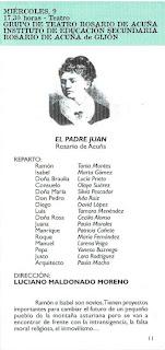 Reparto del Grupo de Teatro Rosario de Acuña que representó El padre Juan