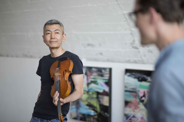 Sax: Florian Walter / Violin: Naoki Kita Rottstr5-Kunsthallen, Bohum, Germany