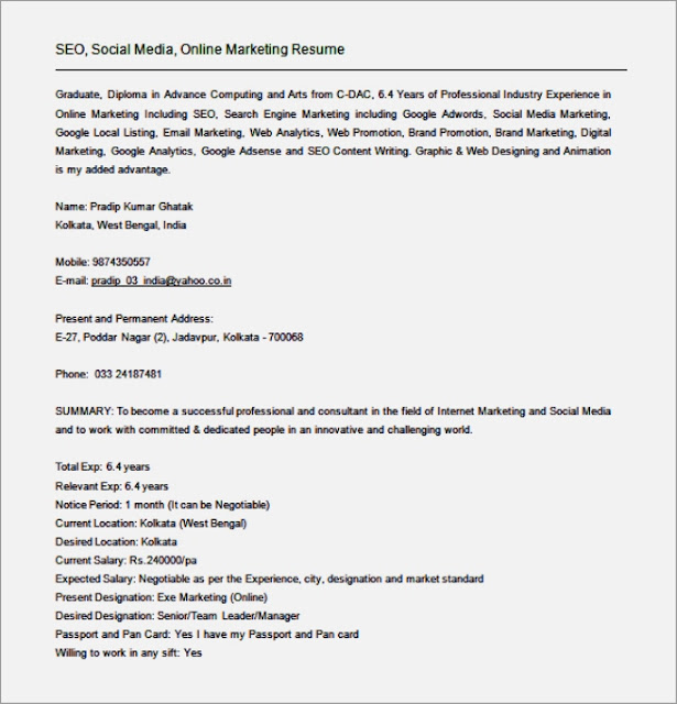 Seo Manager Resume Example Assistant Manager Resume Template Easy – Sample Seo Resume