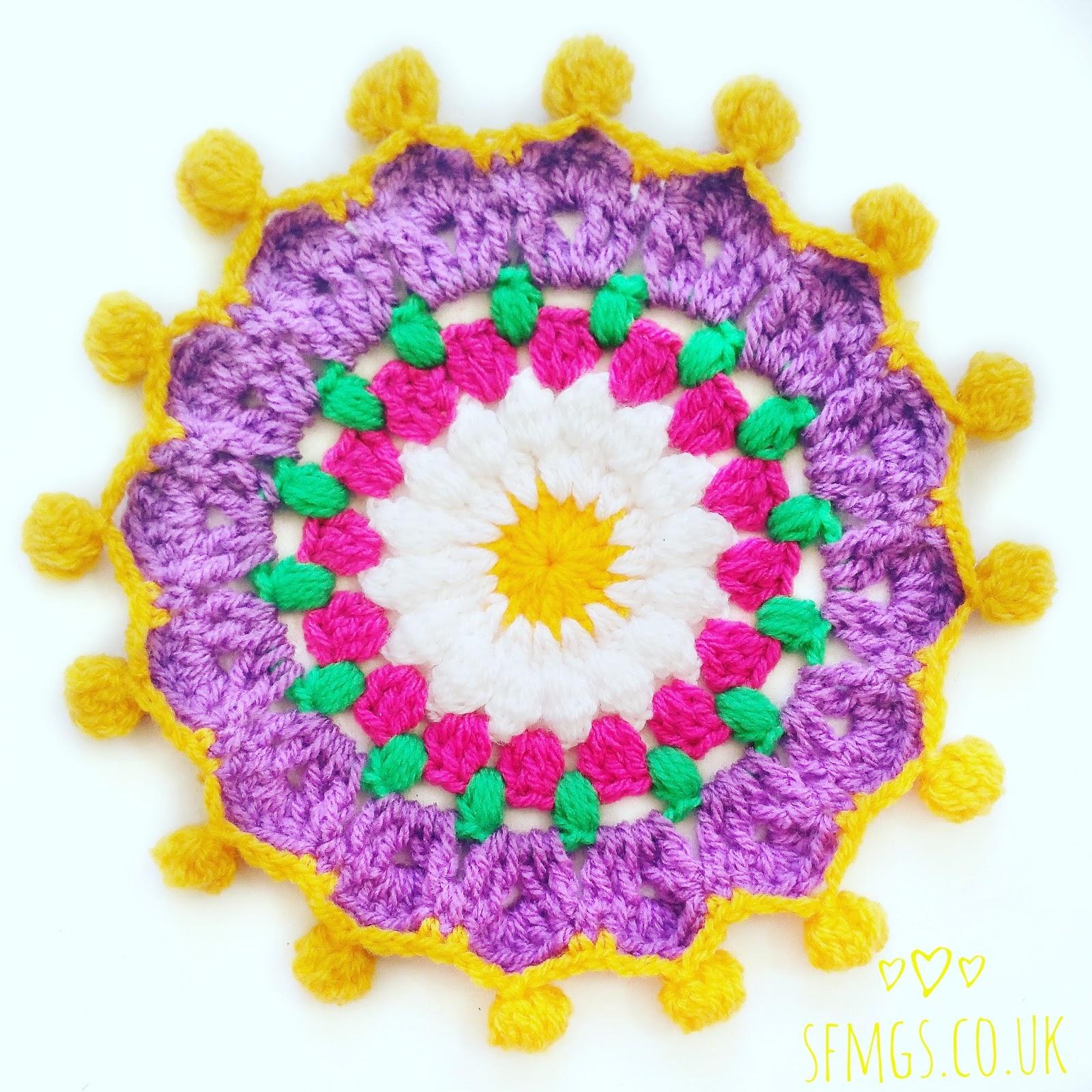 free crochet mandala pattern daisy