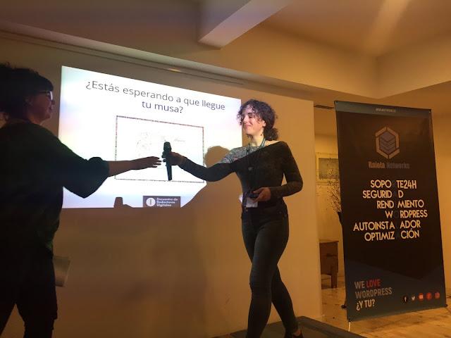 Taller Irene Rodrigo y Gabriella Camptbell encuentro redactores digitales via Irene Milian