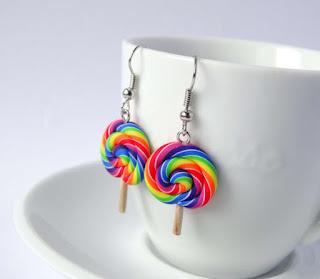 Lollipop earrings dangle