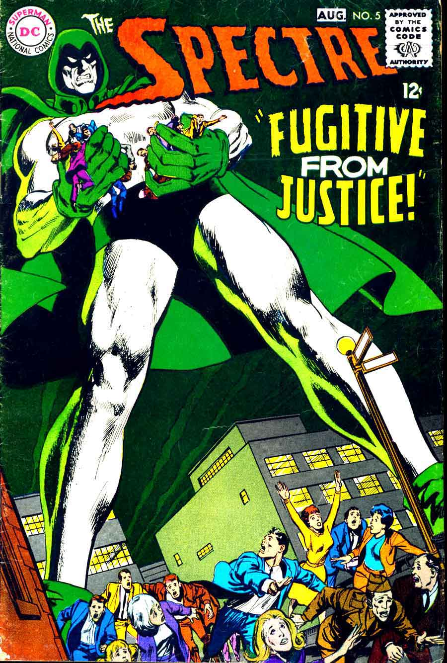 Spectre v1 #5 dc 1960s silver age comi book cover art by Neal Adams