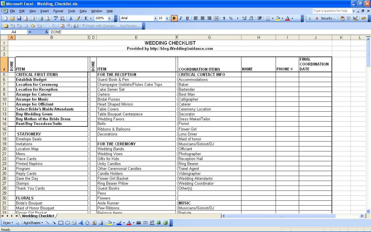 Planning For A Wedding: Checklist For Planning A Wedding