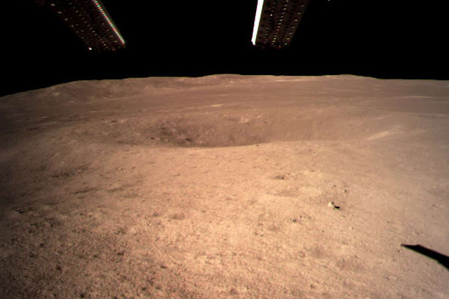 Image Attribute: An image of the surface of the Moon taken from Yutu-2 rover's Panoramic Camera (PCAM)  / Source: CSNA/CGTN