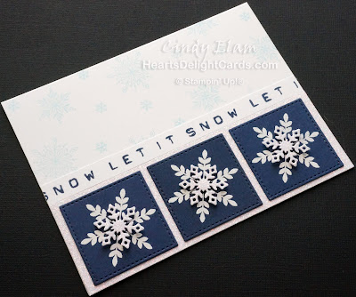 Heart's Delight Cards, Snow Is Glistening, Snowfall Thinlits, Let It Snow, Stampin' Up!