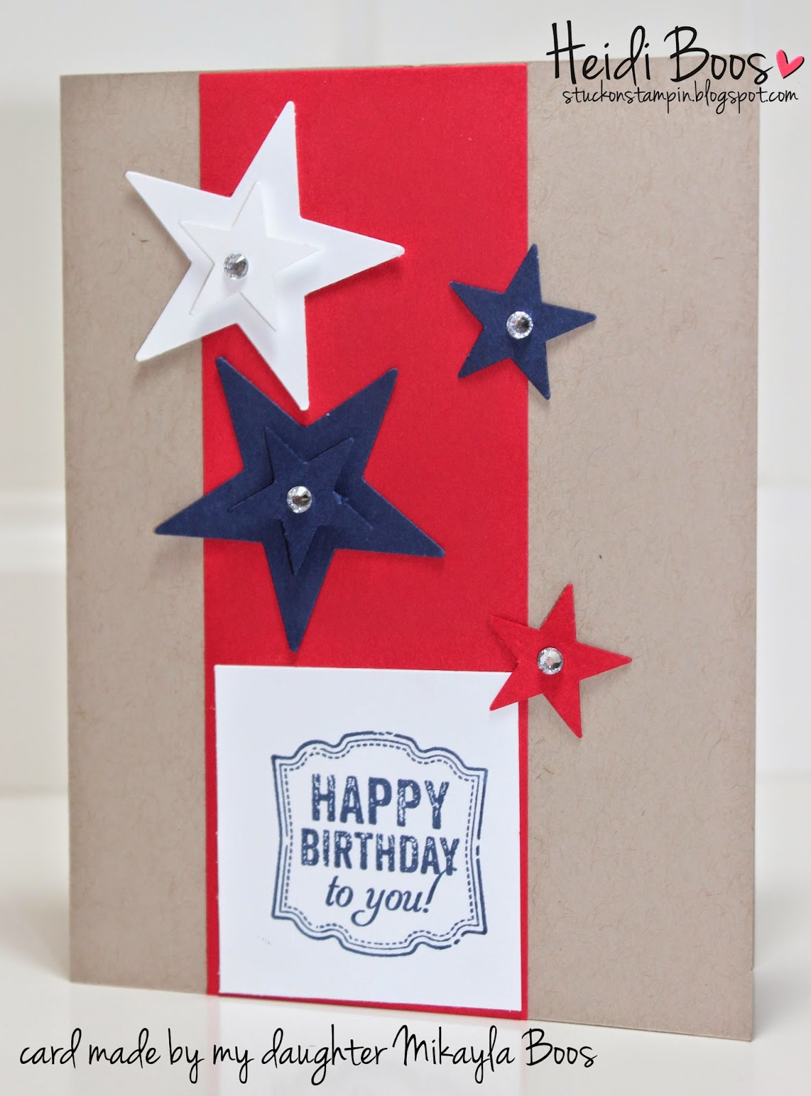 In Google Search Stampin Up 4th Of July Birthday Card To Help Her Come With A Design She Knows Mamas Tricks When Needing Some Inspiration