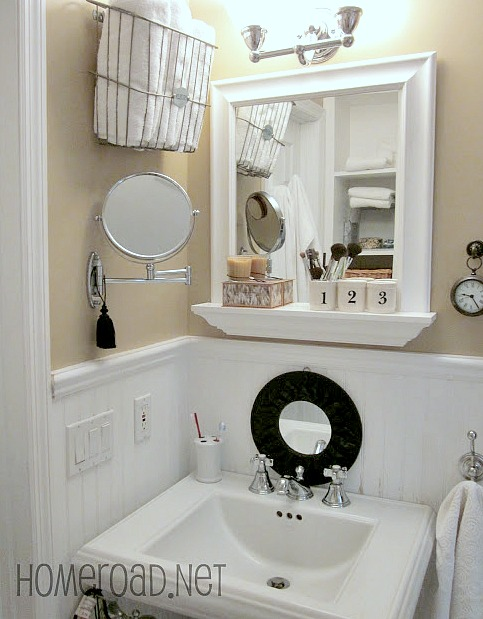 Tiny Master Bathroom Storage Solutions