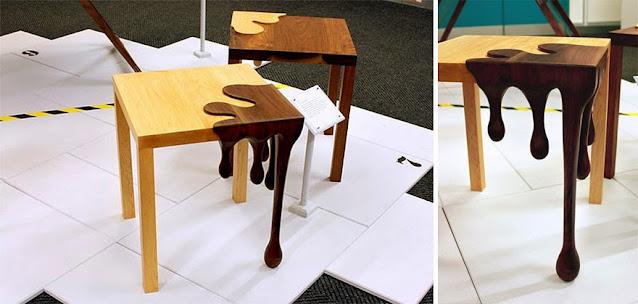 drveni stol lijepog dizajna
