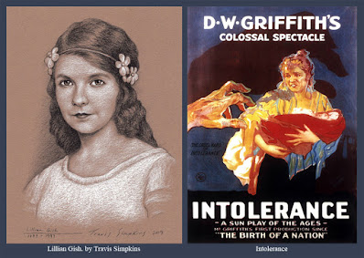 Lillian Gish. Silent Film Actress. Intolerance. D.W. Griffith. by Travis Simpkins