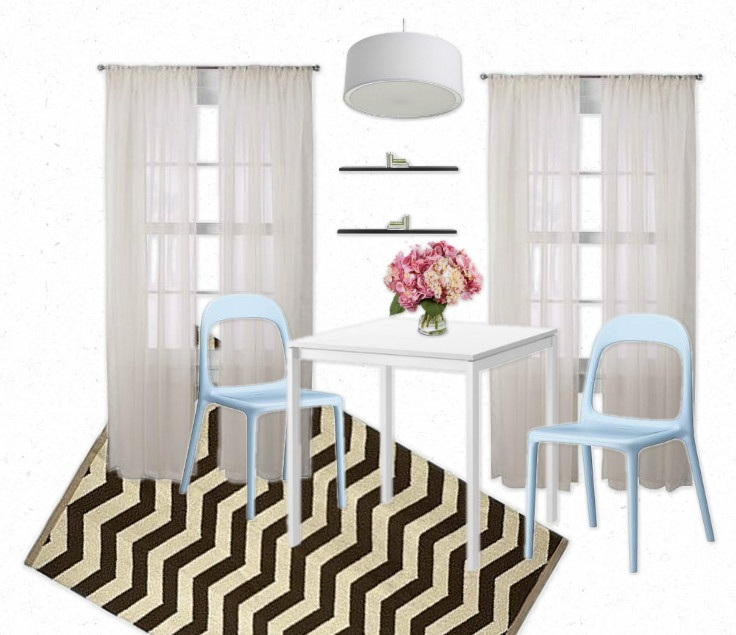 Dining Room On A Budget: Chevron Chic Dining Room On A College Budget