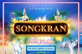 The Biggest Water Balloon War at Songkran Water Festival by Stratosphere @ The Roof