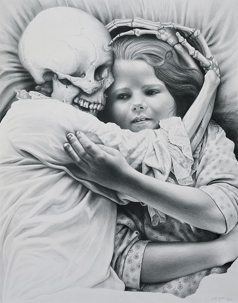 Graphite & Charcoal Drawings by Laurie Lipton.