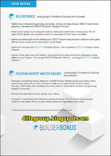 foto 4Life Builder Bonus - Info