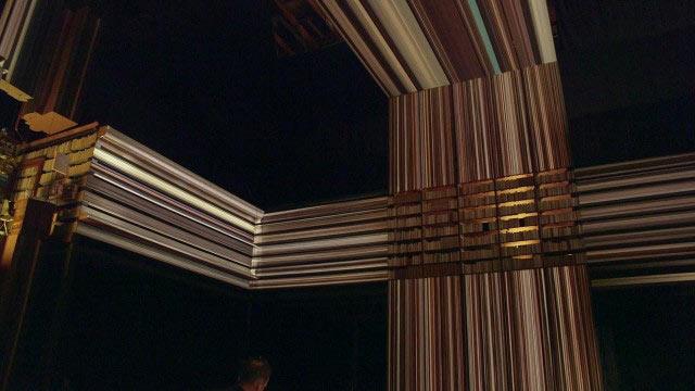 La escena visualmente alucinante del 'Tesseract' en Interestelar fue filmada en un set físicamente construido