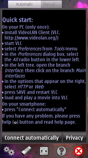 Control VLC Player from Mobile with VLC Telecontrol for Nokia