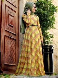 dress muslimah bermotif
