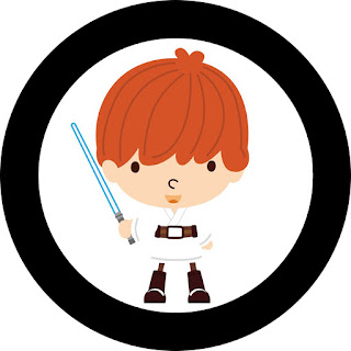 Star Wars Babies Toppers or Free Printable Candy Bar Labels.