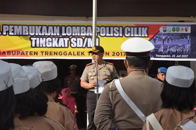 7 Tim Polcil Kecamatan Ikuti Lomba Polisi Cilik Polres Trenggalek