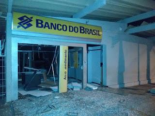 Cofre de agência bancária é explodido em Venturosa