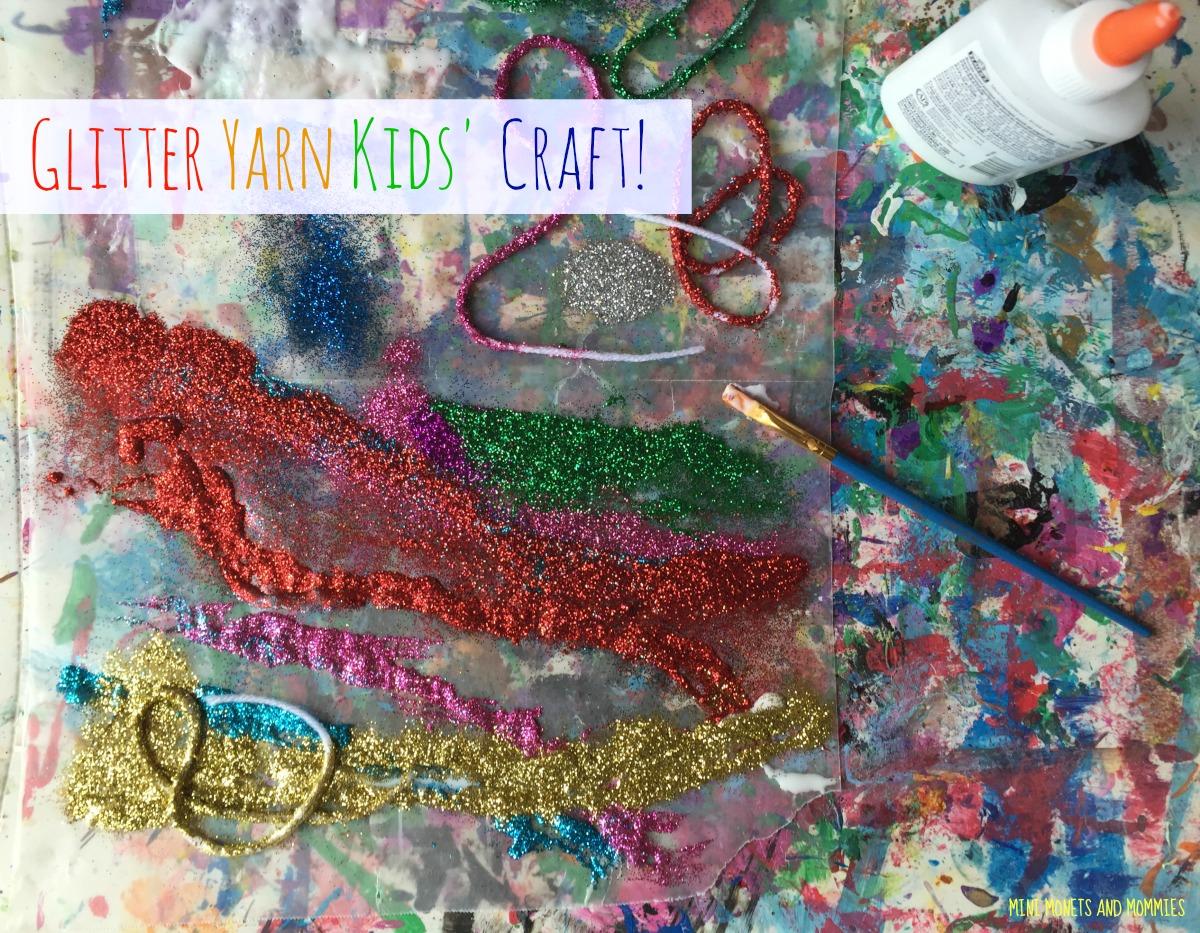 Mini Monets And Mommies Kid Made Art Material Glitter Glue Yarn