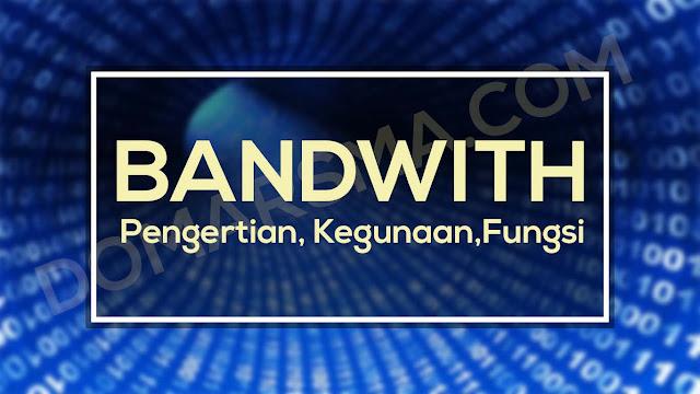 Pengertian, Kegunaan, dan Fungsi dari Bandwith