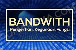 Apa Itu Bandwith dan Apa Kegunannya dan Juga Fungsinya