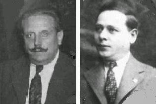 Los árbitros de ajedrez José Cabré y Emilio Lissitza