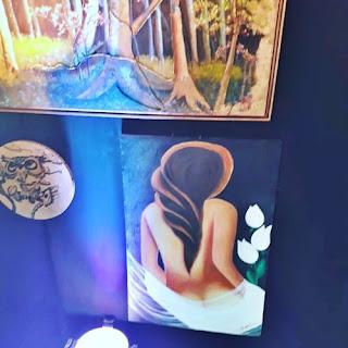 Tela exposta no Celebra Sinop - artista Rose Dias